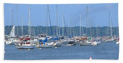 Beach Towel featuring the photograph All In Line by Newwwman