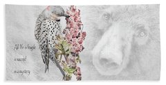 Northern Flicker Photographs Beach Towels