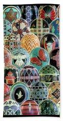 All Ostrich Eggs Collage Beach Sheet