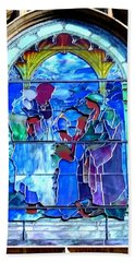 All Saints' Stained Glass Beach Towel