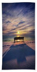 Beach Towel featuring the photograph All Shadows Chase Swift by Phil Koch