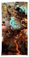 All That Glitters Abstract Beach Towel