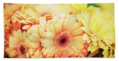 Beach Towel featuring the photograph All The Daisies by Ana V Ramirez