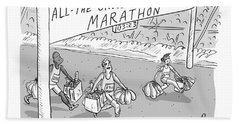 All-the-groceries-in-one-trip Marathon Beach Towel