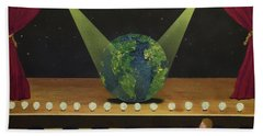 All The World's On Stage Beach Towel