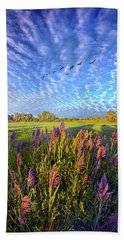 All Things Created And Held Together Beach Towel