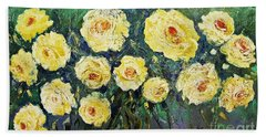 All Yellow Roses Beach Towel