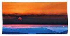 Allegheny Mountain Sunrise 2 Beach Sheet