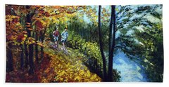 Alley By The Lake 1 Beach Towel