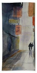 Alley In Chinatown Beach Towel by Tom Simmons