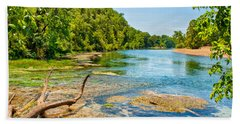 Beach Towel featuring the photograph Alley Springs Scenic Bend by John M Bailey