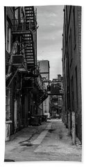 Beach Towel featuring the photograph Alleyway II by Break The Silhouette
