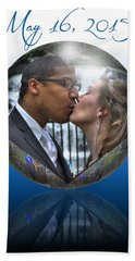 Alli And Hassan May 16 2015 Beach Towel