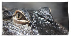 Alligator Eye Beach Sheet by Carol Groenen