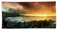 Alligator Rock Sunset Beach Towel