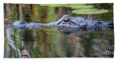 Alligator Swims-2-0599 Beach Towel
