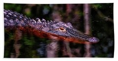 Alligator Waiting 003 Beach Towel