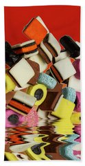 Allsorts Sweets Beach Towel by David French