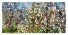 Almond Orchard Blossom Beach Towel