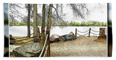 Almost Spring At Lafayette Lake Beach Towel