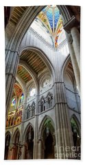 Almudena Cathedral Interior In Madrid Beach Towel