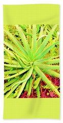 Aloha Aloe In Puna In Lime Beach Towel