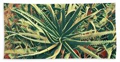 Aloha Aloe In Puna Beach Towel