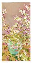 Aloha Bouquet Of The Day - White Orchids In Pink Beach Towel