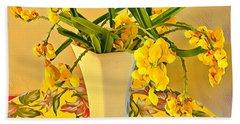 Aloha Bouquet Of The Day - Yellow Wild Flowers Beach Towel