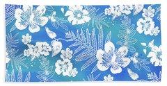 Aloha Lace Kaua'i Blue Beach Towel