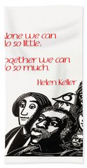 Alone And Together Beach Towel
