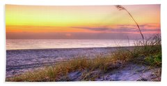 Beach Sheet featuring the photograph Alone At Dawn by Debra and Dave Vanderlaan
