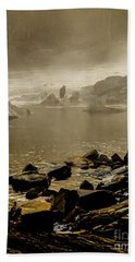 Beach Towel featuring the photograph Alone In The Mist by Iris Greenwell