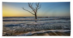Beach Towel featuring the photograph Alone In The Water by Rick Berk