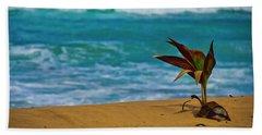 Alone On The Beach Beach Towel