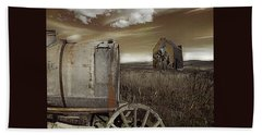 Alone On The Plains Beach Towel by Jeff Burgess