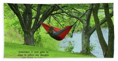Alone With My Thoughts Beach Towel by Dennis Baswell