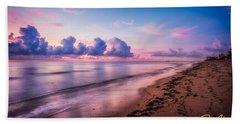 Beach Towel featuring the photograph Along The Beach by Rikk Flohr
