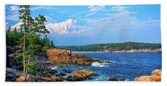 Along The Coast In Acadia National Park Beach Towel
