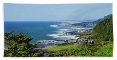 Along The Coastline On A Perfect Day Beach Towel