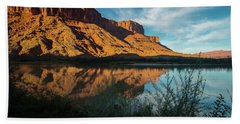 Beach Towel featuring the photograph Along The Colorado by Gary Lengyel