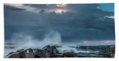 Along The Jetty Beach Towel by Greg Nyquist