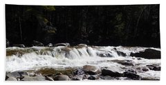 Along The Swift River Beach Towel by Catherine Gagne