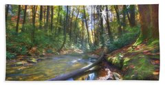 Along The Trail In Georgia Beach Towel by Sharon Batdorf