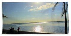 Along The Malecon In Cienfuegos, Cuba Beach Sheet
