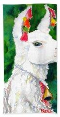 Alpaca With Attitude Beach Sheet