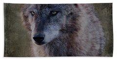 Alpha Wolf Portrait Beach Towel
