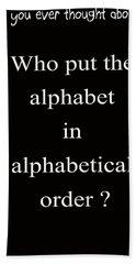 Alphabet 101 Beach Sheet by George Bostian