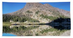Alpine Lake Sunrise Beach Towel