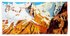 Alpine Landscape Beach Sheet by Henryk Gorecki